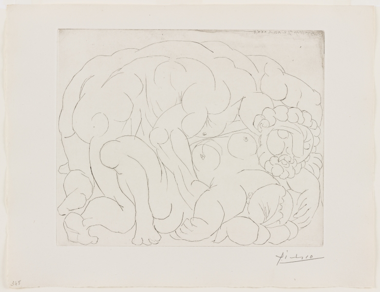 Pablo Picasso, Rape, II, 22 April 1933. Drypoint, via Picasso's Suite Vollard and its Contexts