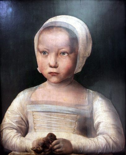 Anonymous, Little girl with dead bird, between 1500 and 1525. Royal Museums of Fine Arts of Belgium, Brussels