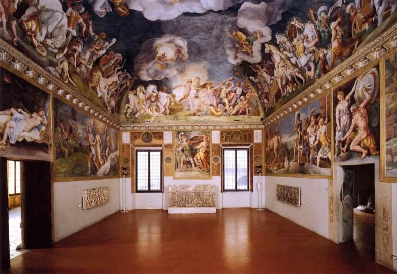 View of the Sala di Troia