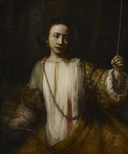Rembrandt van Rijn, Lucretia, c. 1666. Oil-canvas, Minneapolis Institute of Art