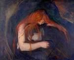 Edvard Munch, Love and Pain ( Vampire), 1895. Oil-canvas, Munch Museum,Oslo