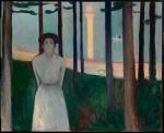 Edvard Munch, Summer Night's Dream (The Voice), 1893. Oil-canvas, Museum of Fine Arts,Boston