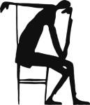 "Franz Kafka, ""The Thinker"" (1913) (via openculture.com)"